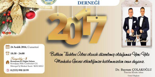 Rumeli Orhan & Kemal 24 Aralık Cumartesi akşamı Yeni Yıla Merhaba Gecesi Yapıyoruz…